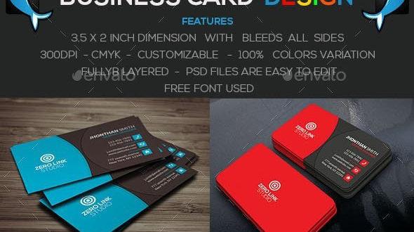 تحميل قالب Psd جاهز للتعديل لكارت فيزيت Business Card مجانا